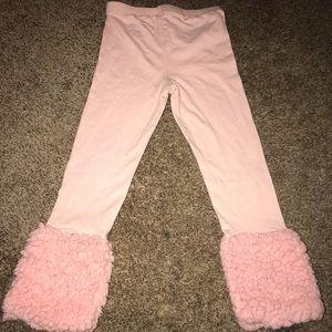 🌟Osh Kosh Genuine Kids Pink Leggings Faux Fur 🌟